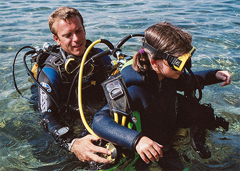scuba dive for children at Antibes