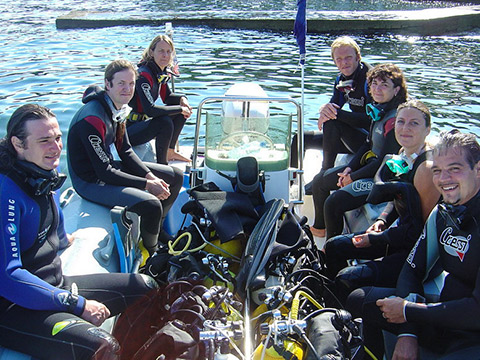 scuba dive fun dive at Antibes
